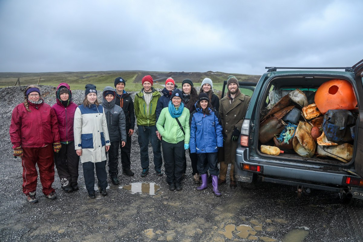 Beach cleanup together with other Husavik residents. Photo by Jason Cartwright