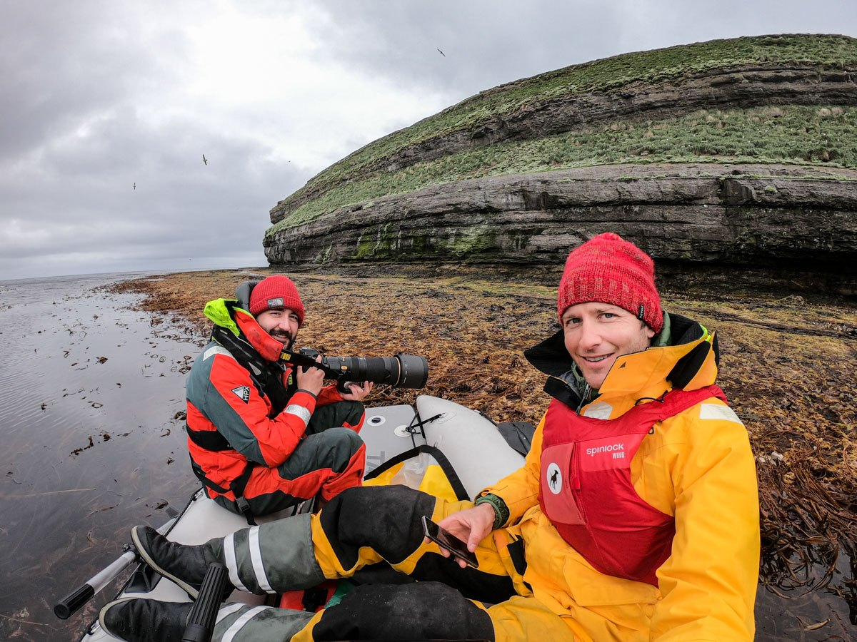 Conor photographing puffins, together with his squire  Andreas.