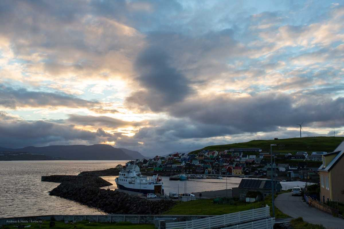 From the Island of Nolsøy, just opposite Torshavn. By Andreas B. Heide / barba.no